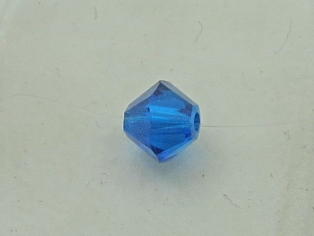 50pcs. 3mm CAPRI BLUE BICONE Swarovski BEADS